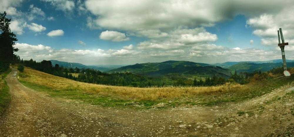 Panorama z Trzech Kopców Wiślańskich