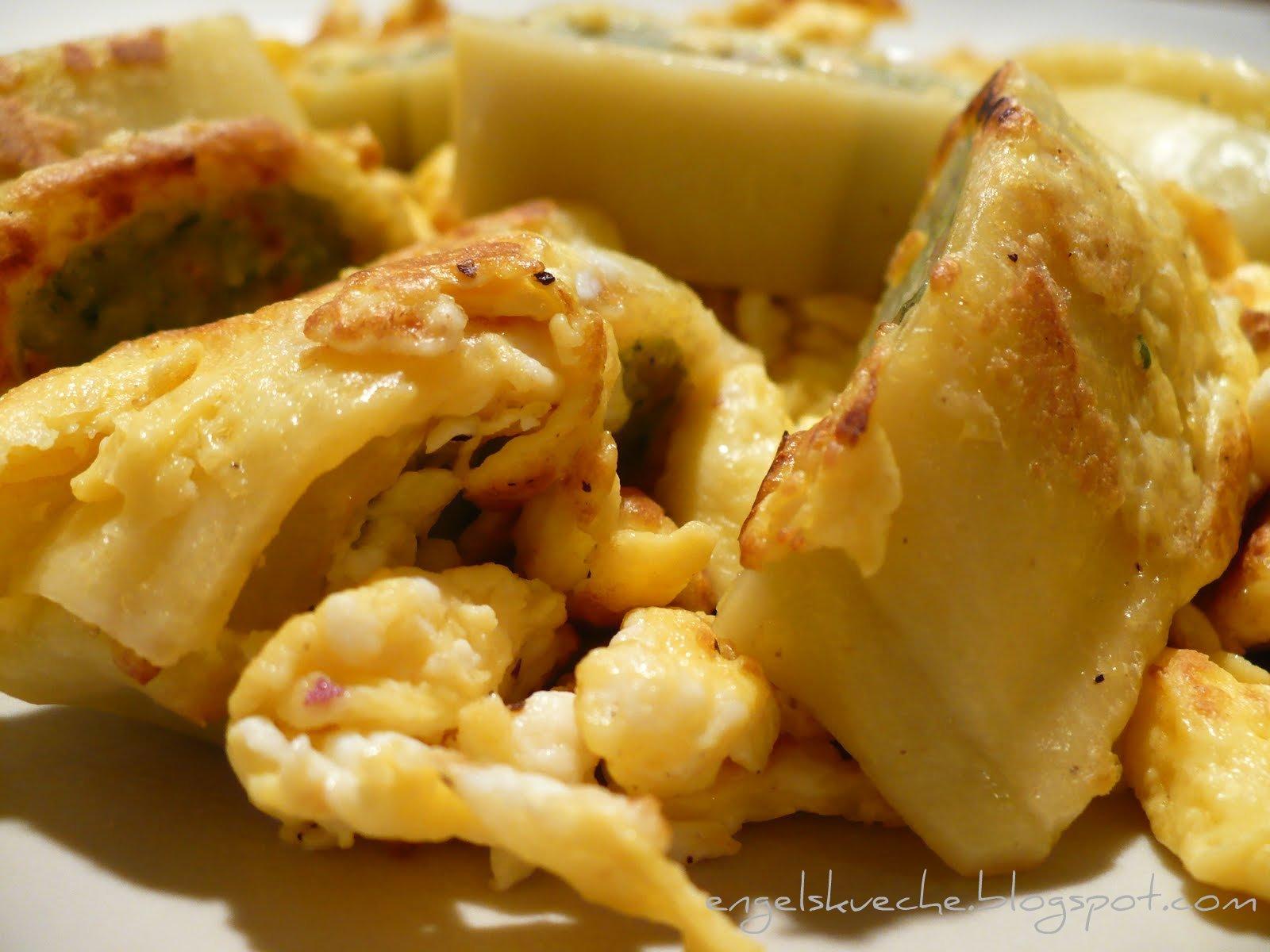 Essen aus Engelchens Küche: Gebratene Maultaschen mit Ei