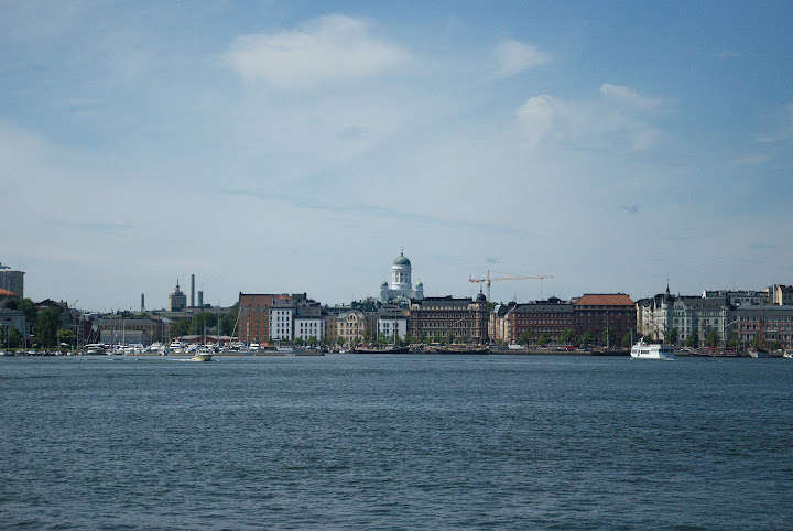 Helsinki from the sea