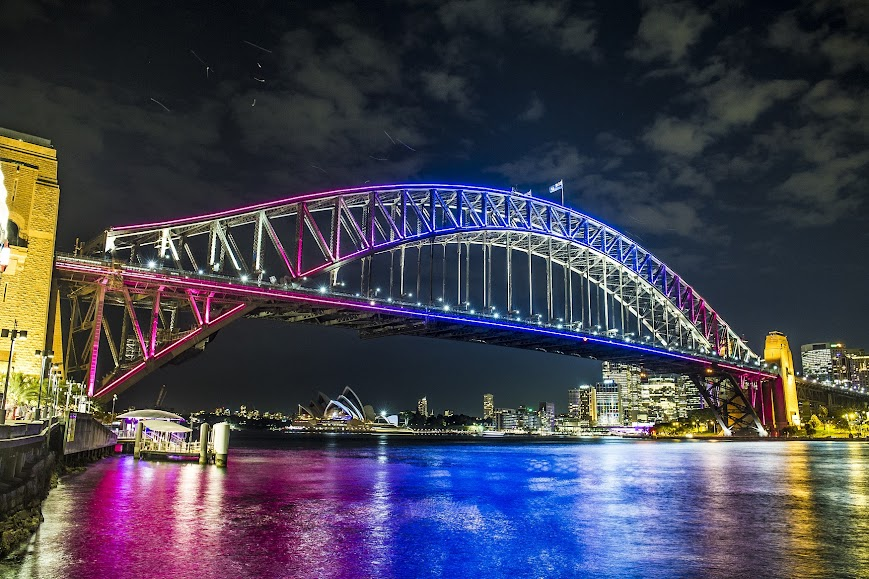 Sydney Harbour in night