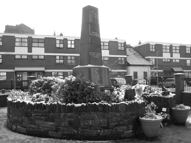 The Bloody Sunday Memorial in Derry, Ireland