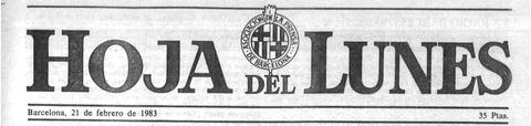 Hoja del lunes 1983