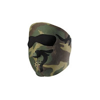 Neoprene Woodland Airsoft Mask