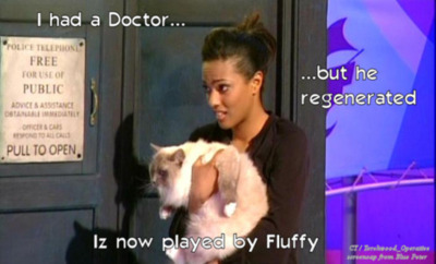 Freema Agyeman and a cat