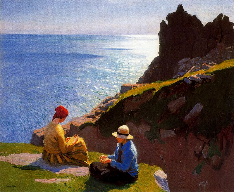 Laura Knight - On the Cliffs