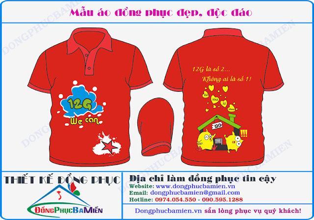 Dong phuc hoc sinh dep lop 12G truong THPT Van Tuong