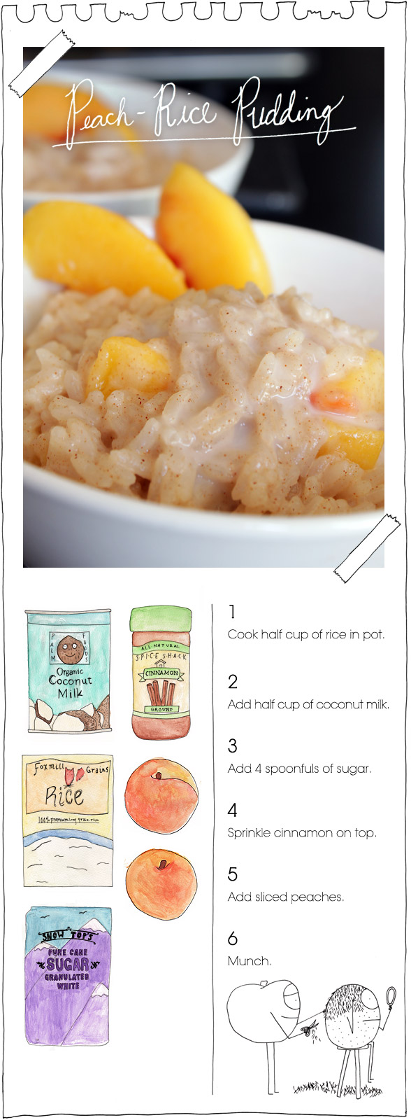 The Vegan Stoner's Peach-Rice Pudding
