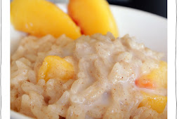 Peach-Rice Pudding