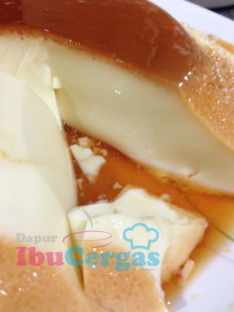 puding telur karamel gula hangus
