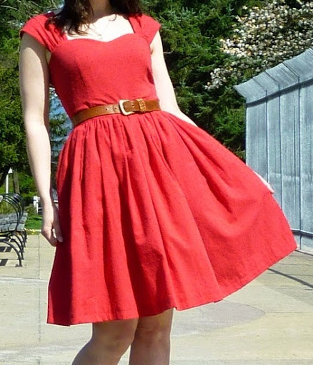 Narrow hips with gathered skirts