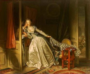 Le baiser à la dérobée - Jean Honoré Fragonard