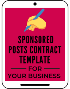 Sponsored posts contract template for your business blog