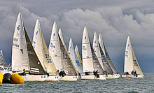 J24s sailing one-design regatta