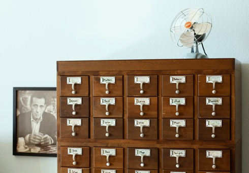 Bubby and Bean Living Creatively Coveted Card Catalogs