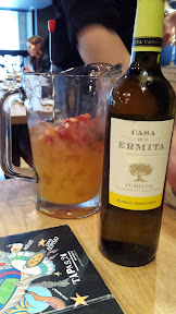 Pick a bottle and they will make sangria with it at Tapas 24