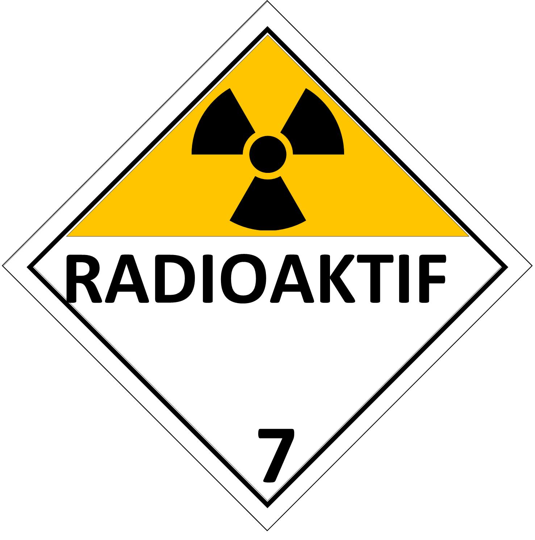 Label (Simbol) Transportasi Bahan (Material) Radioaktif 7