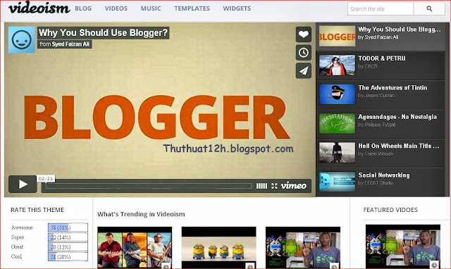 template blogspot giong youtube