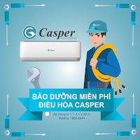 Bảo dưỡng miễn phí điều hòa Casper 2019