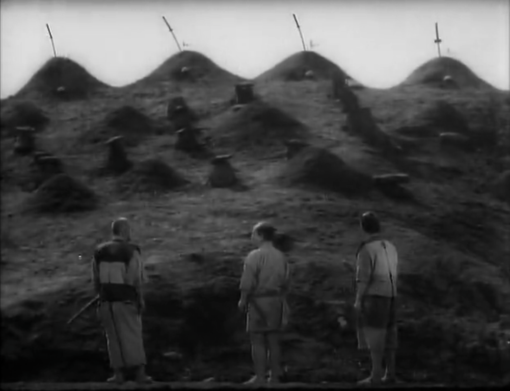 seven samurai thesis Seven samurai see a cinematic classic from a post-hegelian perspective danny o'donnell reviews kurosawa's seven samurai akira kurosawa's rip-roaring action epic seven samurai (1954) also happens to be a goldmine of philosophical themes [and the template for the later the magnificent seven – ed] apart from being a hugely entertaining martial arts extravaganza, its characters and plot introduce us to some major ideas.