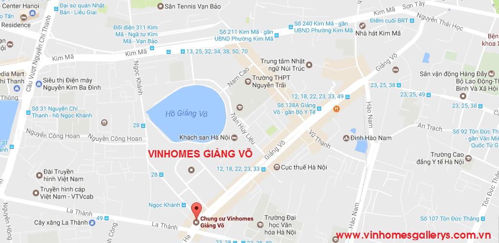 vi tri vinhomes gallery