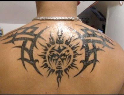 tribal tattoos sun