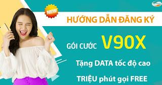 Nhận 30GB, Miễn phí Gọi cả triệu phút Gói V90X Viettel