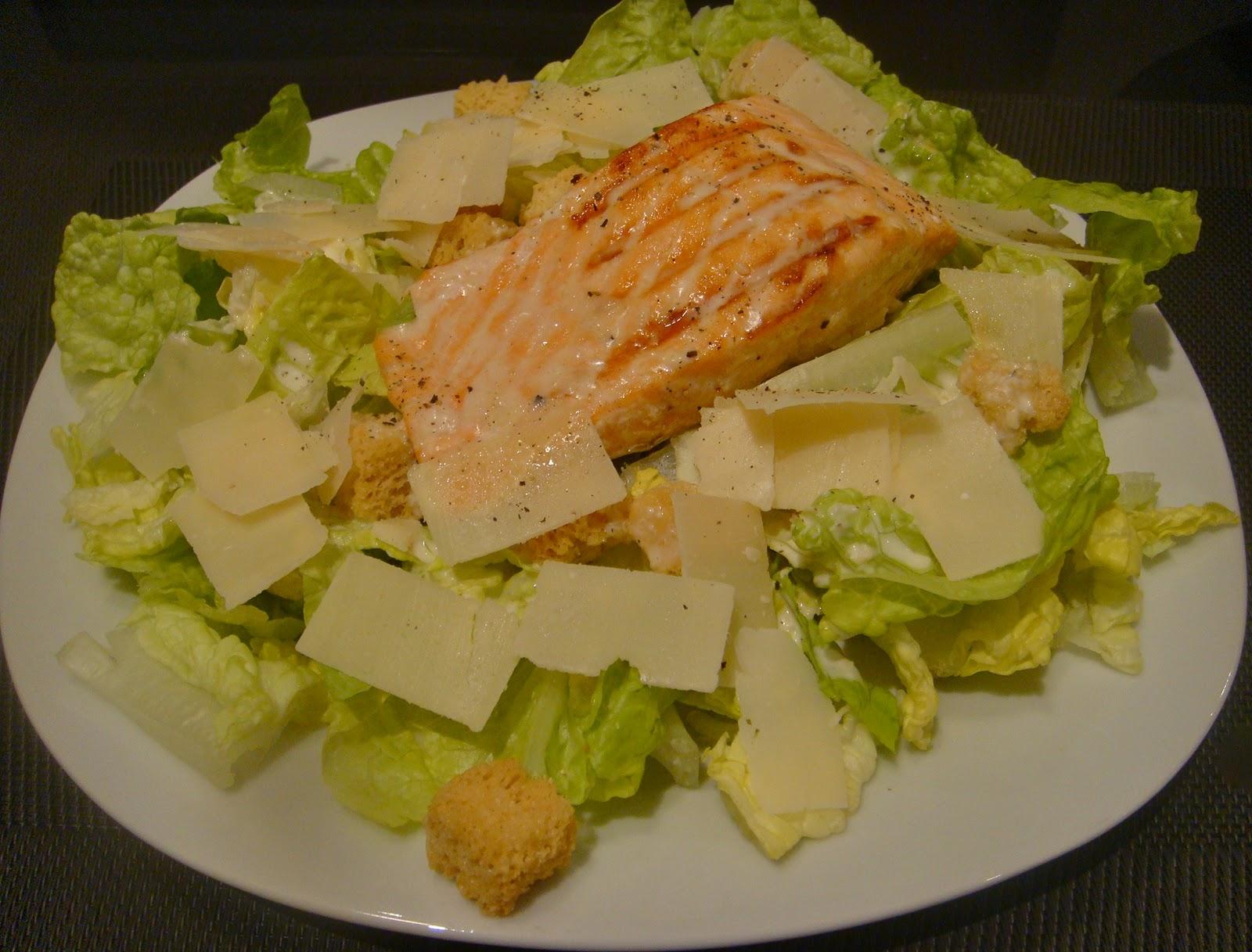 Au menu ce soir salade c sar all g e au saumon cuisine entre copines - Cuisine romaine traditionnelle ...
