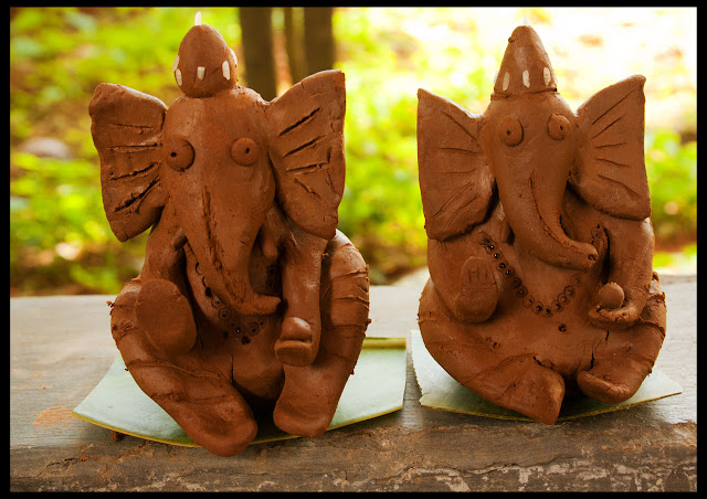 Ganesha made by the kids