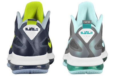 nike lebron 9 low ss obsidian cyber 1 06 LeBron 9 Low Samples   Easter, Cyber, Hornets   Heel Pull Tab