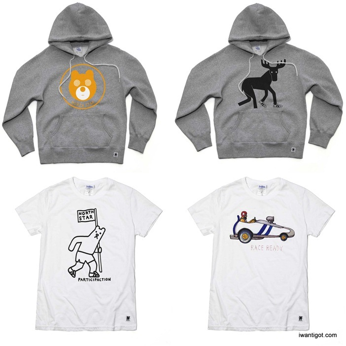 North Star x Geoff Mcfetridge Collection - Hoodies and Tshirts