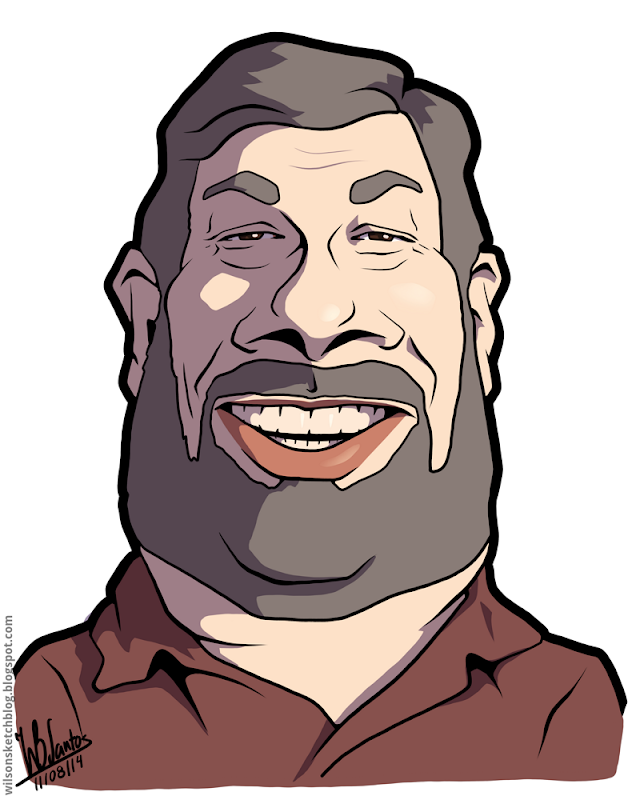 Cartoon caricature of Steve Wozniak.