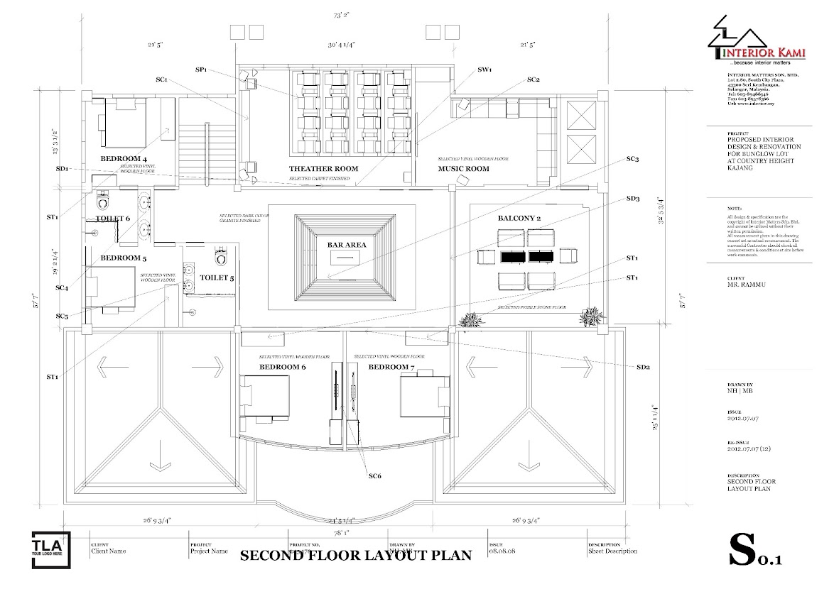 2nd floor layout plan for country height bunglow