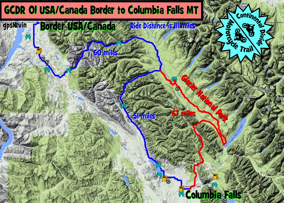 Gcdr Section 01 Gpskevin Adventure Rides - Google-maps-canada-us-border