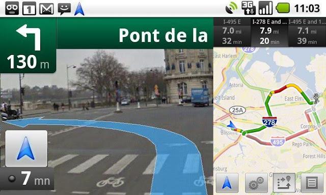 Nouvelle mise à jour de Google Maps Navigation GPS Android