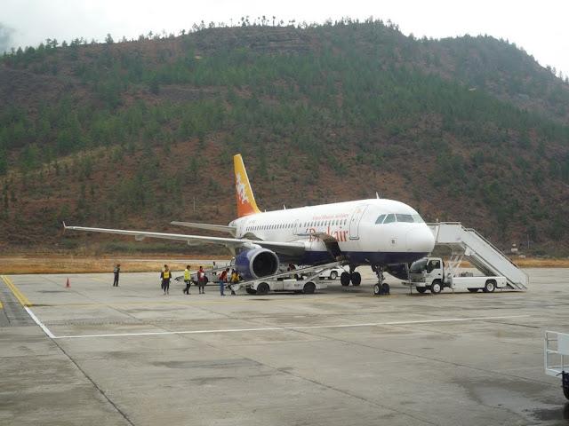 Avión de Druk Air, Bután