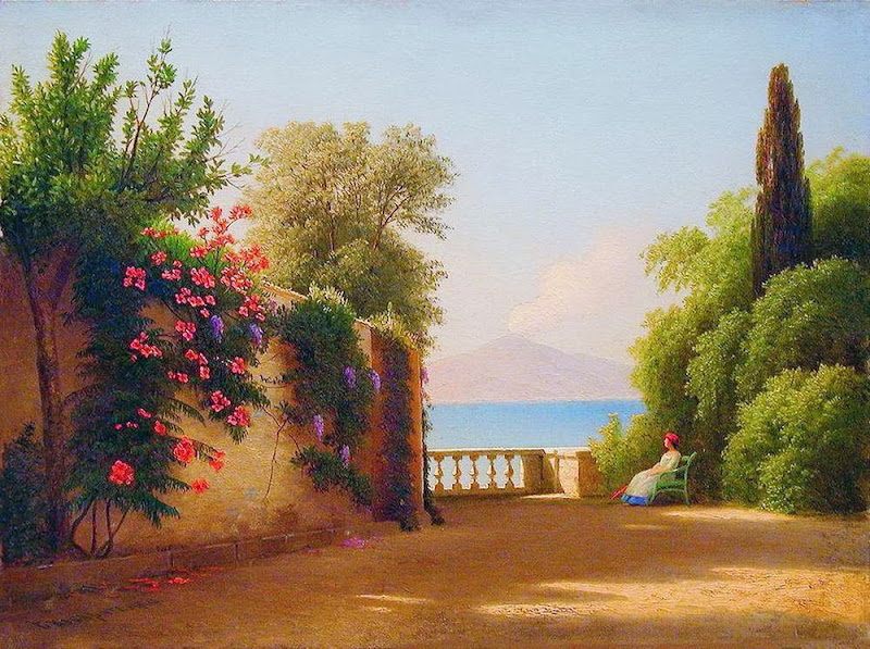 Gavril Kondratenko - By the Sea. Mount Vesuvius