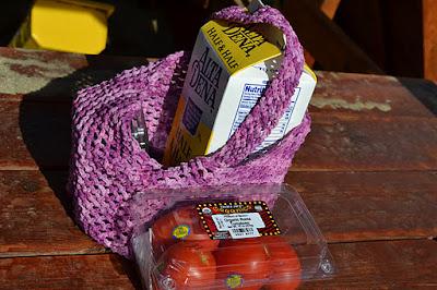 Varigated Pink  Market Bag