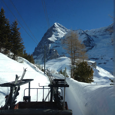 Eiger and skis