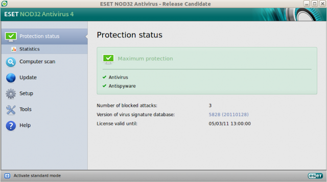 How To install ESET NOD32 Antivirus 4 for Linux