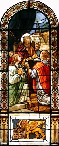 Vetrata di San Pietro e san Prosdocimo, duomo di San Donà di Piave