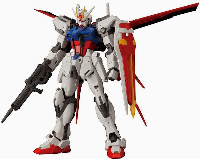 Mô hình Aile Strike Gundam MG 1/100 được trang bị vũ khí phong phú
