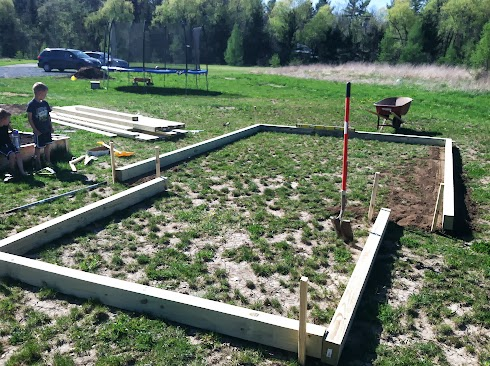 Foundation frame for the shed