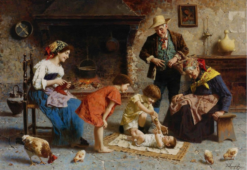 Eugenio Zampighi - Playing with Baby