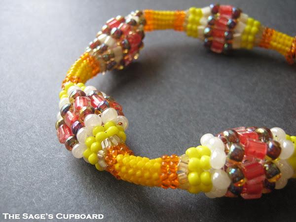 Autumn Yellow Bobble Bracelet