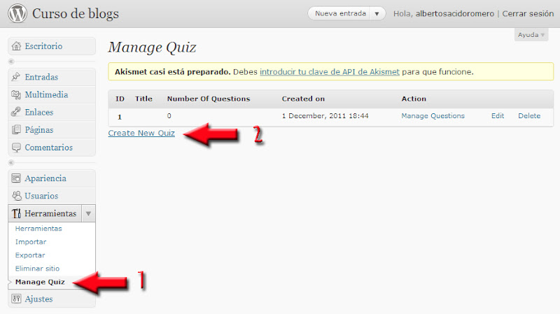 how to make test quiz on wordpress