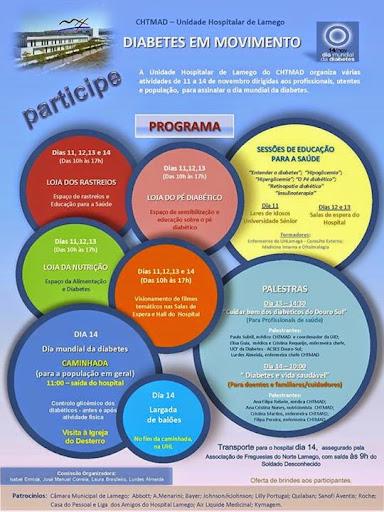 Dia Mundial da Diabetes - Lamego - 11 a 14 de Novembro