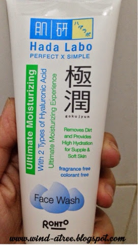 Review Hadalabo Ultimate Moisturizing Face Wash