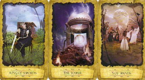 Daily Draw King Of Swords The Tower Five Of Wands