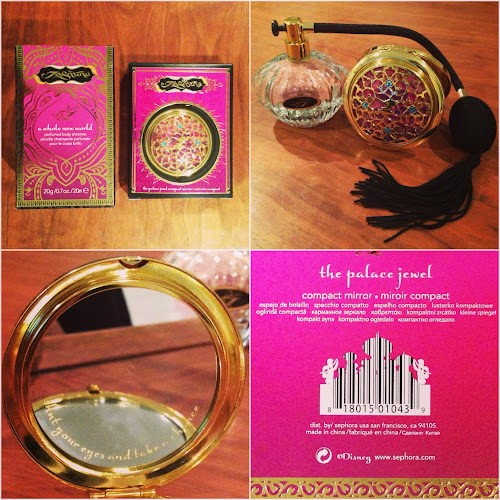 sephora jasmine collection, sephora disney collection, sephora jasmine compact, sephora jasmine perfume, tongueincheeky shopping diary, tongueincheeky review