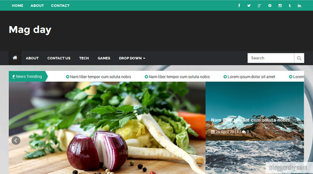 Mag Day Snipe Blogger template